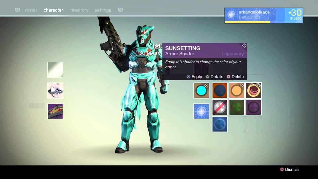 Destiny cryptograhic vs glowhoo vs sunsetting shaders titan the