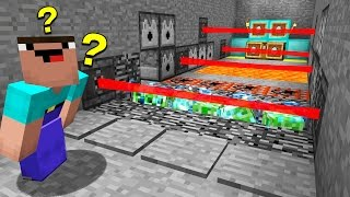 1 noob enters a room full of minecraft traps