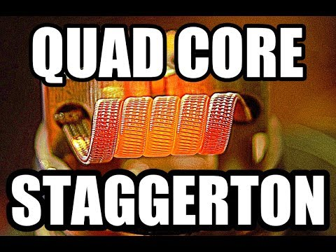 QUAD CORE STAGGERED FUSED CLAPTON COIL BUILD / HOW TO INSTALL AND WICK EXOTIC COILS