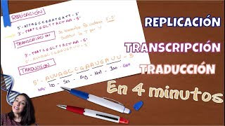 Aprendiendo a replicar, transcribir y traducir en 4 minutos. Bio[ESO]sfera