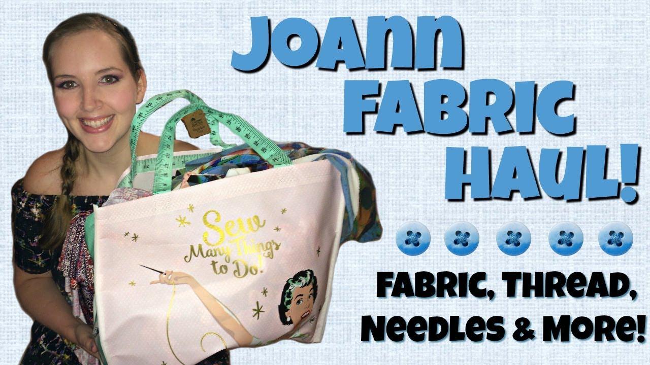 joann fabric u0026 sewing supplies haul project updates u0026 ideas