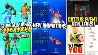 *NEW* Fortnite x Stranger Things SKINS LEAKED IN-GAME! Pressure Plant Update, & CATTUS NEW FILES!