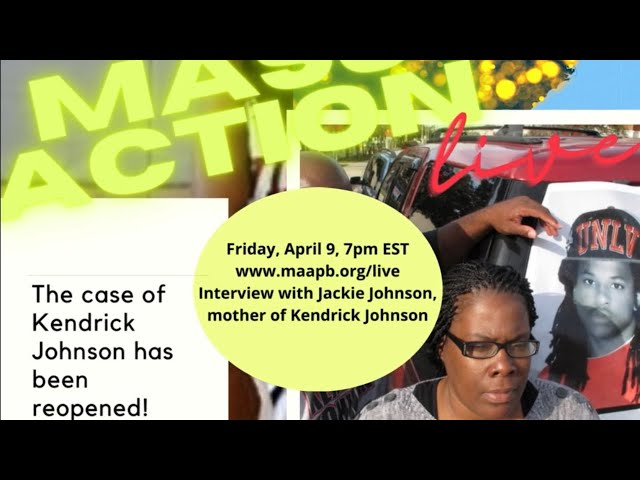 Mass Action Live: Kendrick Johnson's case Reopened! Interview with Jackie Johnson