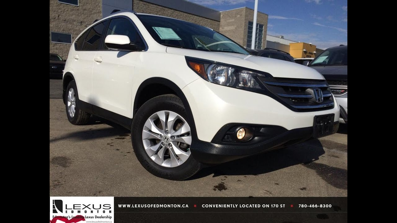 Pre Owned White 2013 Honda CR V AWD EX L Review | Lacombe Alberta   YouTube