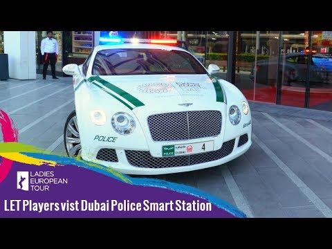 LET Players visit Dubai Police Smart Station | Omega Dubai Ladies Classic