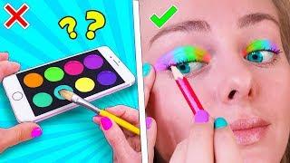12 Бьюти ЛАЙФХАКОВ и причёсок для девочек! Как стать популярной в Likee! Идеи для Школы LIFE HACKS