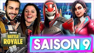 SAISON 9 FORTNITE: ¡AL DECTUAR EL PAS DE COMBATE Y EL MAPA! REACCION SAISON 9 FORTNITE DUO EN