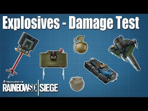 Explosives Test & Comparison - Rainbow Six   Siege
