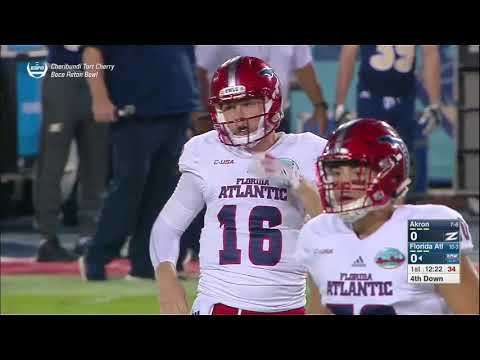 NCAAF 2017 Boca Raton Bowl Akron Zips vs Florida Atlantic Owls