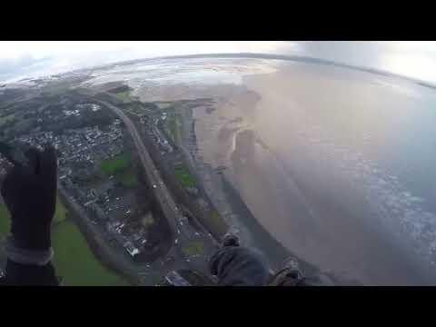 Flying over Llanfairfechan