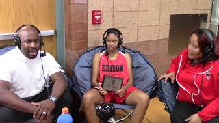 Coaches Culture presented by SPS interviews Edison  player of the game Ruby Whitehorn & Coach Paris