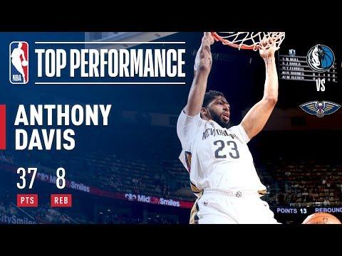 Anthony Davis SKIES HIGH vs The Dallas Mavericks