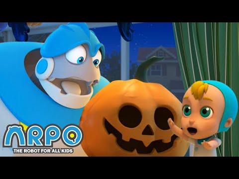 The Pumpkin is ALIVE!!! - Arpo the Robot   BRAND NEW   Halloween Cartoons for Kids   Kids Animation