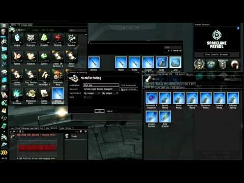 Eve Online Market & Industry Tutorial - Part 2/5 - Build start? Blueprints, Factories, Selling