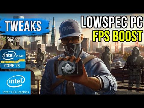 LowSpec PC Tweaks - Watch Dogs 2 | Lag Fix | Intel HD 5500