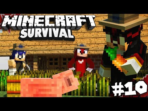 Sonic & Shadow Play Minecraft Part 10 - SONIC RAGE QUITS!! (Ft. Knuckles)