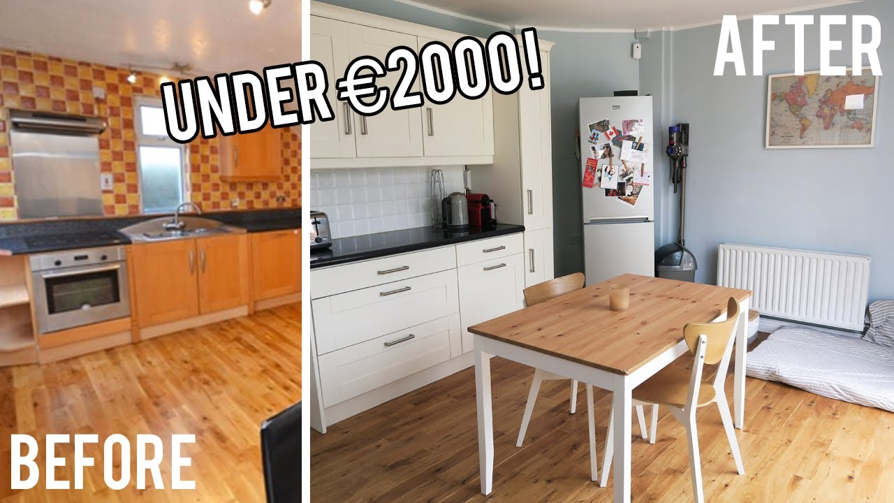 complete kitchen makeover for under 2000 includes before after footage