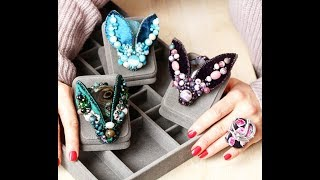 Как сделать брошь мотылек в мятном цвете.  how to make a moth brooch