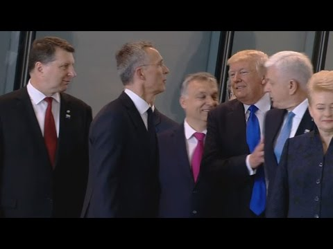 Trump Shoves Prime Minister of Montenegro at NATO Meeting