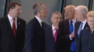 Trump Shoves Prime Minister of Montenegro at NATO Meeting