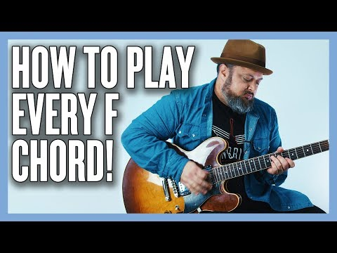 How To Play Every F Chord (CAGED SYSTEM) on Guitar With Diagrams!