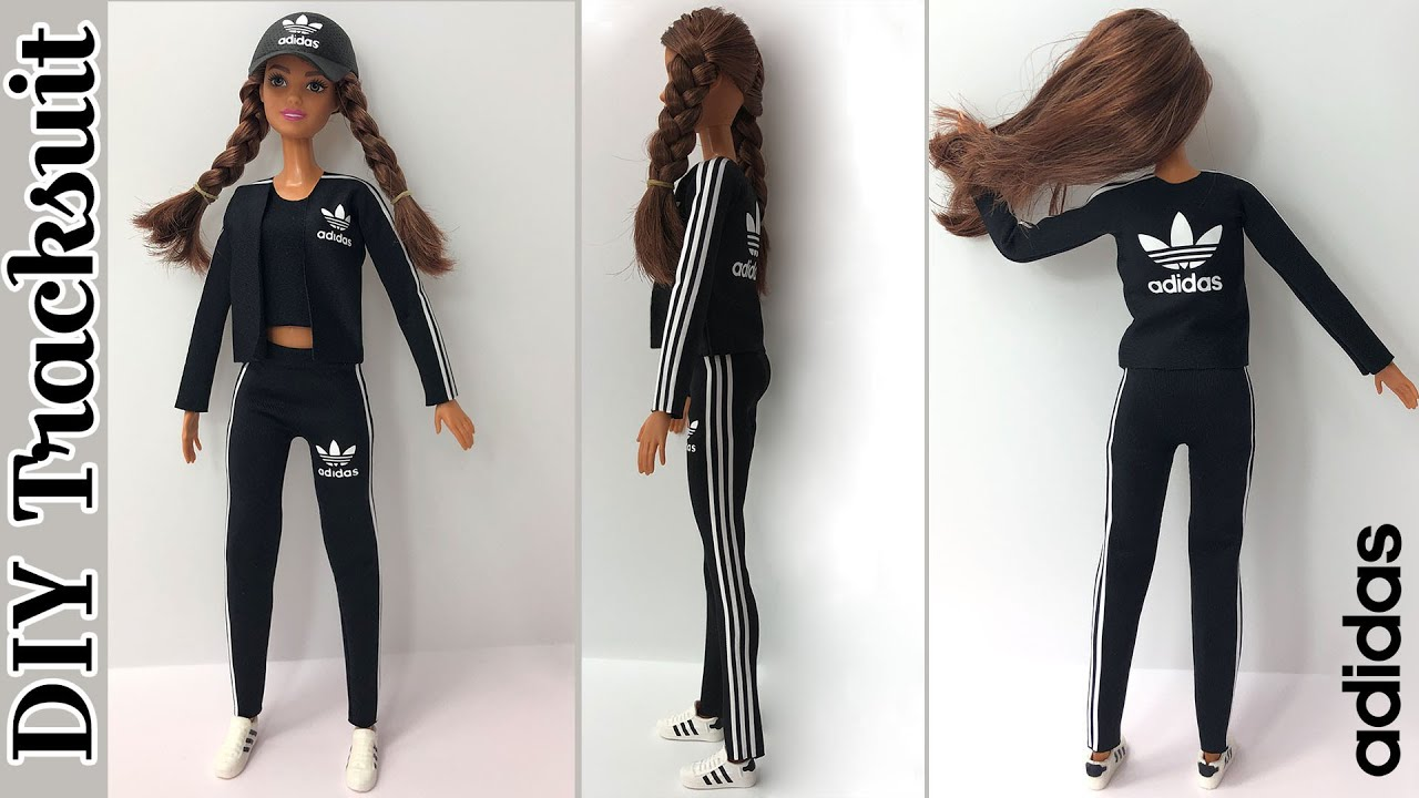 DIY How to make adidas sneaker for Barbie or any doll - YouTube