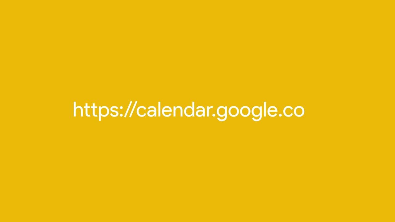 Add Google Meet video meetings to Calendar events