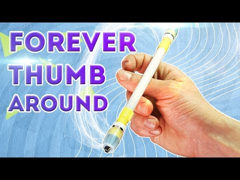 THUMB AROUND HARMONIC - HOW TO SPIN PEN OVER YOUR THUMB / EASY PEN SPINNING TUTORIAL