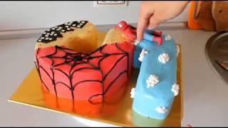 Как Собрать И Украсить Торт Цифру 5 Торт С Человеком Пауком