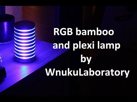Plexi/wooden RGB led lamp making on CNC router. /Lampa ledowa RGB. Definitely not homemade lamp :)