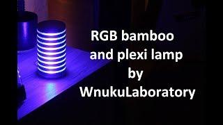 Plexi/wooden RGB led lamp making on homemade CNC router. /Lampa ledowa RGB