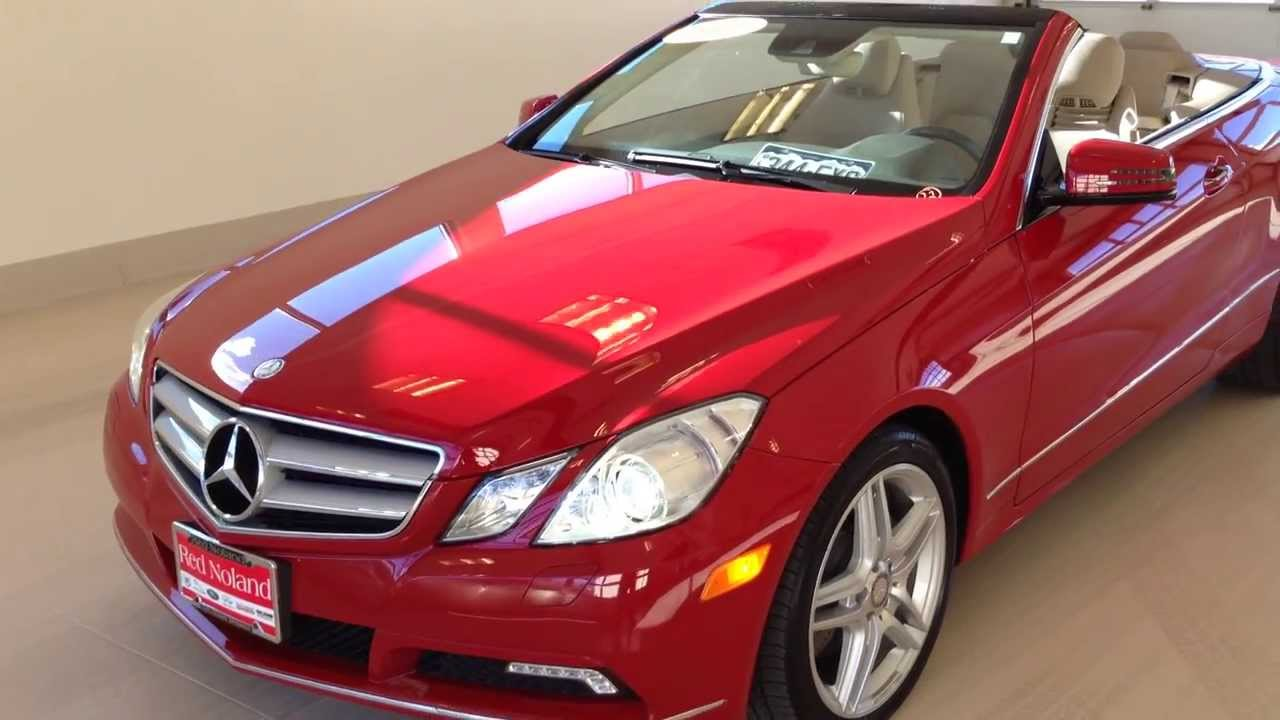 Mercedes Pre Owned >> 2011 Mercedes E-Class E350 Convertible At The Red Noland Pre Owned Center - YouTube