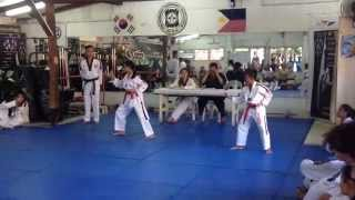 red belt tkd promotion test