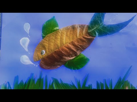 How To Make Fish From Leaves |craft Art For Students.