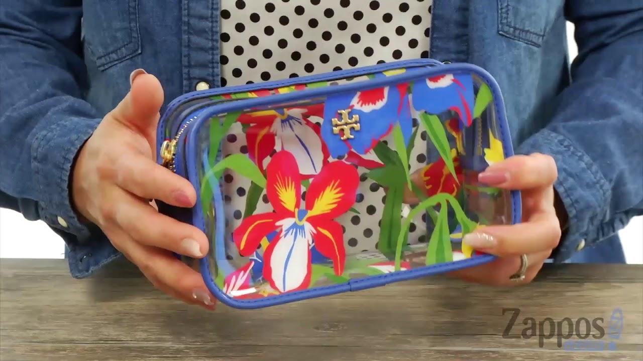 61b4c886b7ece Tory Burch Floral Cosmetic Case SKU  9057637 - YouTube