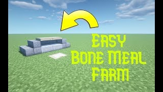How to make a Easy Bone Meal Farm in minecraft 1.14.4