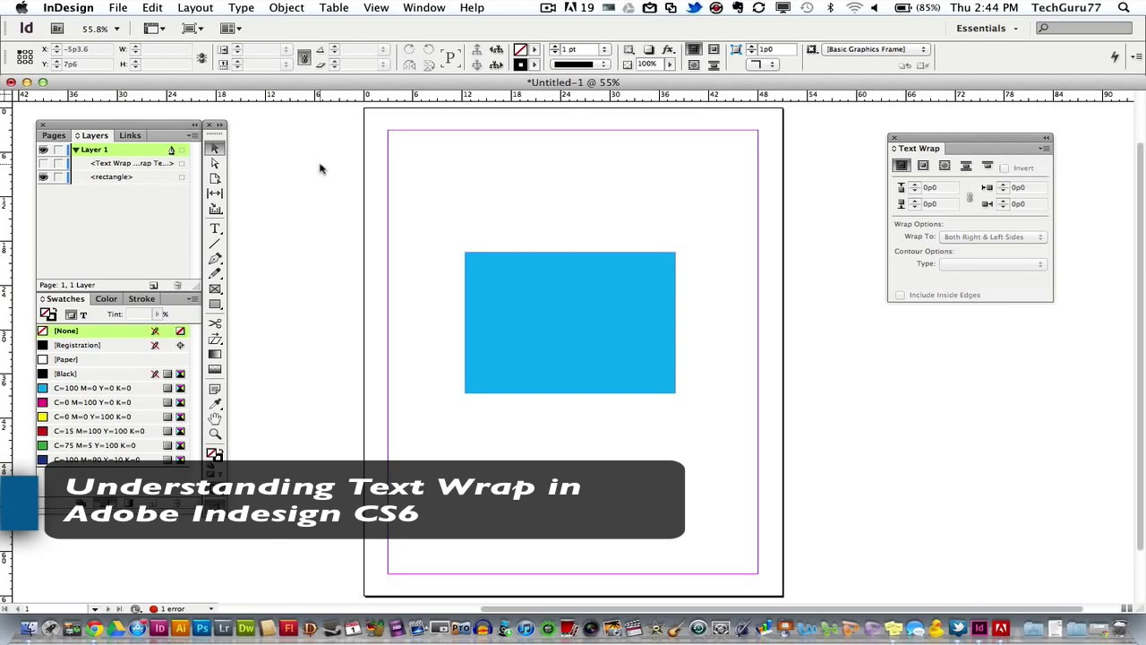 Text in photoshop wrap to how