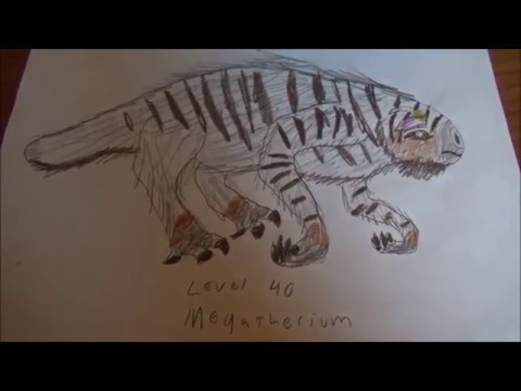 How To Draw The Level 40 Megatherium From Jurassic World