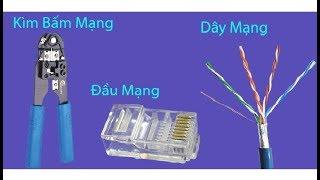 Hướng dẫn bấm hạt mạng, dây mạng, kẹp dây mạng dễ dàng nhất