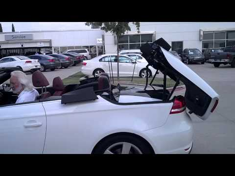 2012 VW EOS hard top convertible amazing operation