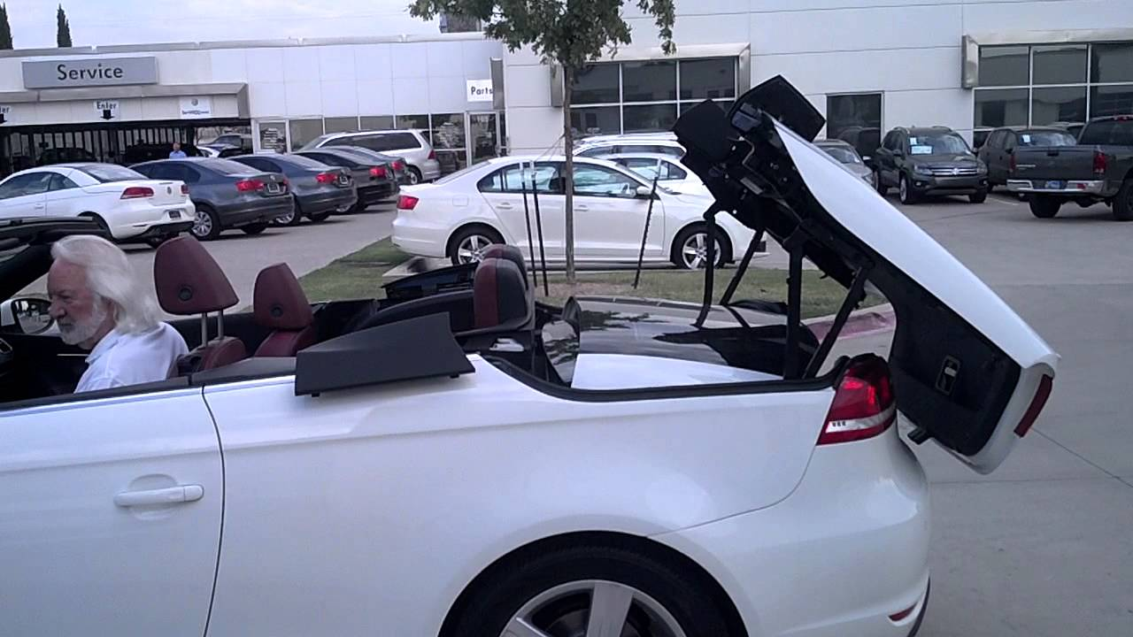 vw eos hard top convertible amazing operation youtube