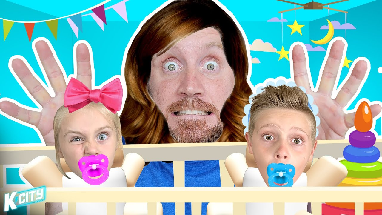 Escape the Babysitter!!! (ROBLOX Who's Your Daddy) K-City Gaming