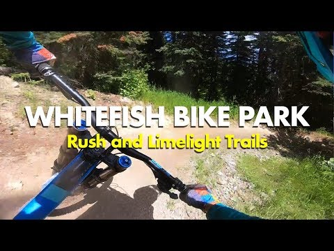 Intermediate & Beginner MTB Trails At Whitefish Bike Park, Montana