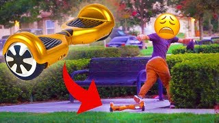 HOVERBOARD BAIT PRANK PART 2!!