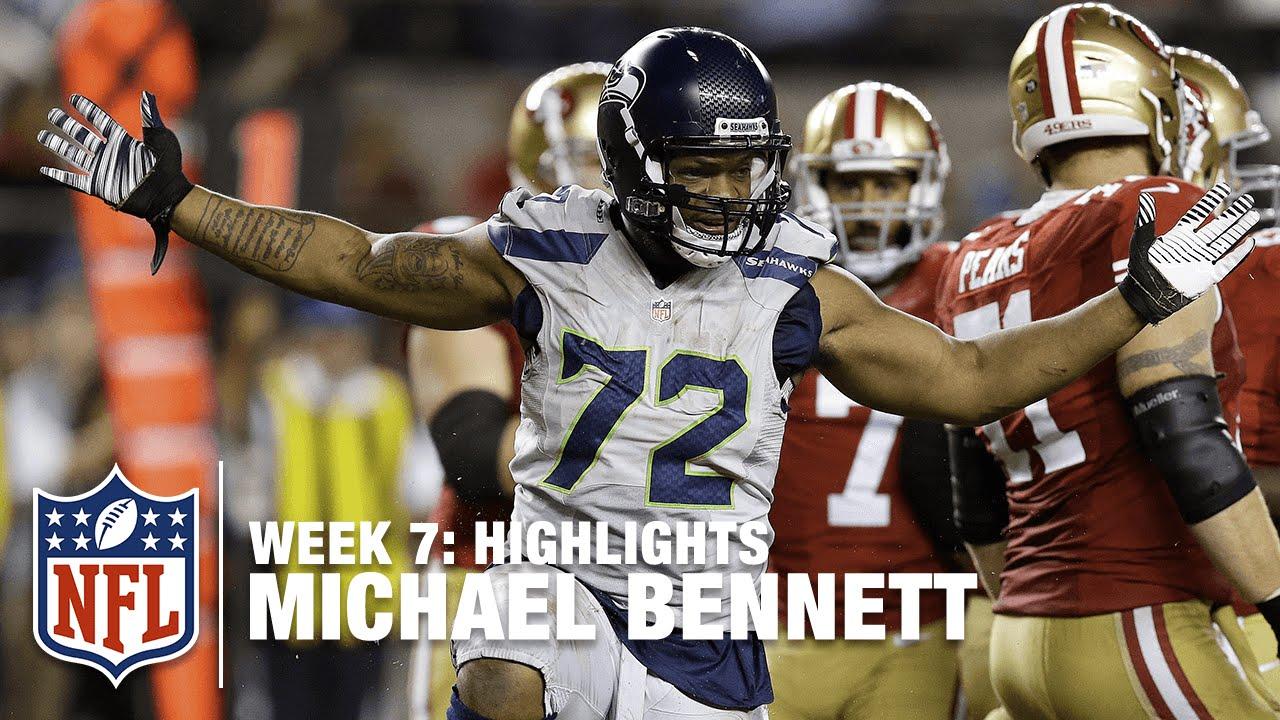 Jerseys NFL Online - Michael Bennett Highlights (Week 7)   Seahawks vs. 49ers   NFL ...