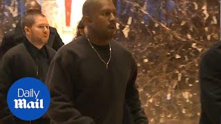 Surprise! Kanye West spotted entering Trump Tower - Daily Mail