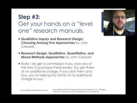 How Do I Choose a Dissertation Methodology - Dr. Guy E. White