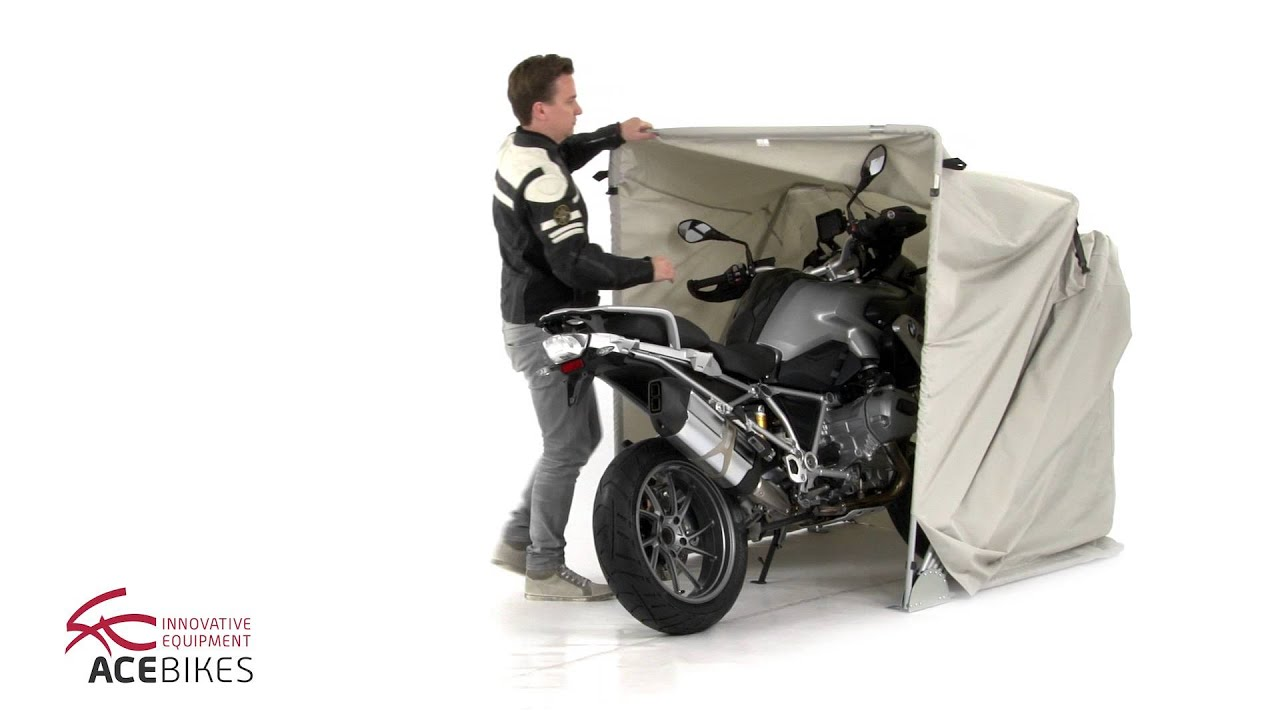 Acebikes motor shelter size m faltgarage folding garage for Garage moto courbevoie