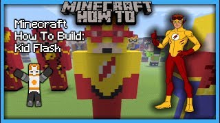Minecraft How To Build: Kid Flash (Statue)