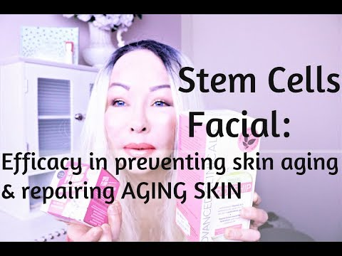 STEM CELL FACIAL-Efficacy in Preventing Skin Aging & Repairing AGING SKIN-Plus Product REVIEW